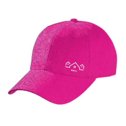 Pink Cap with White Logo